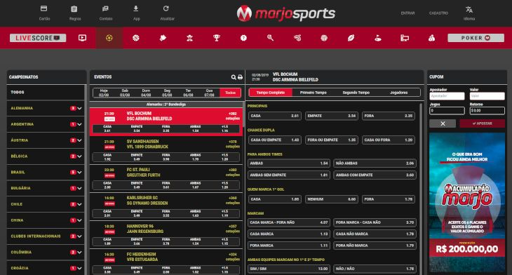 MarjoSports home page