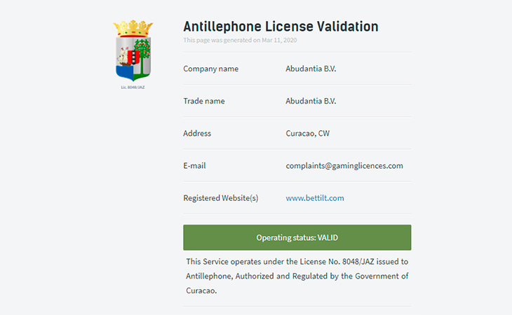 Antillephone License Validation