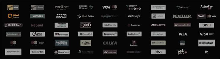KTO métodos de pagamento disponíveis